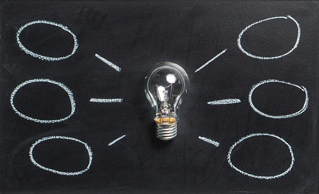 黒板と電球