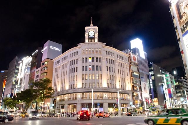 東京銀座の夜景