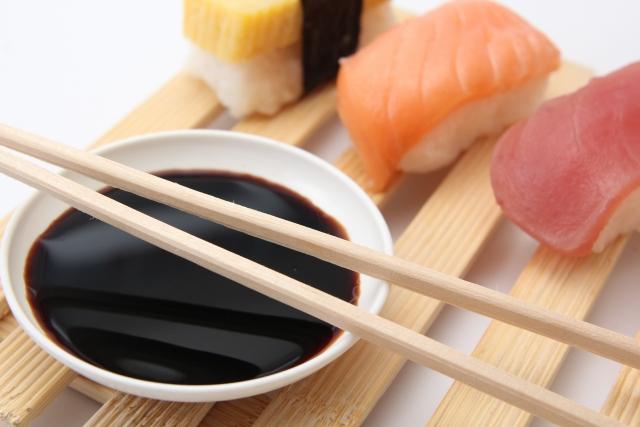 醤油とお寿司