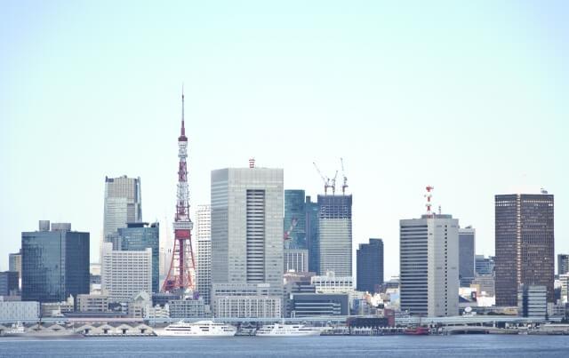 東京タワーと町並み