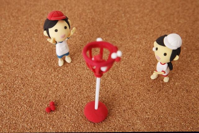 運動会の玉入れの人形