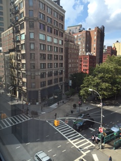 Outside the hotel window