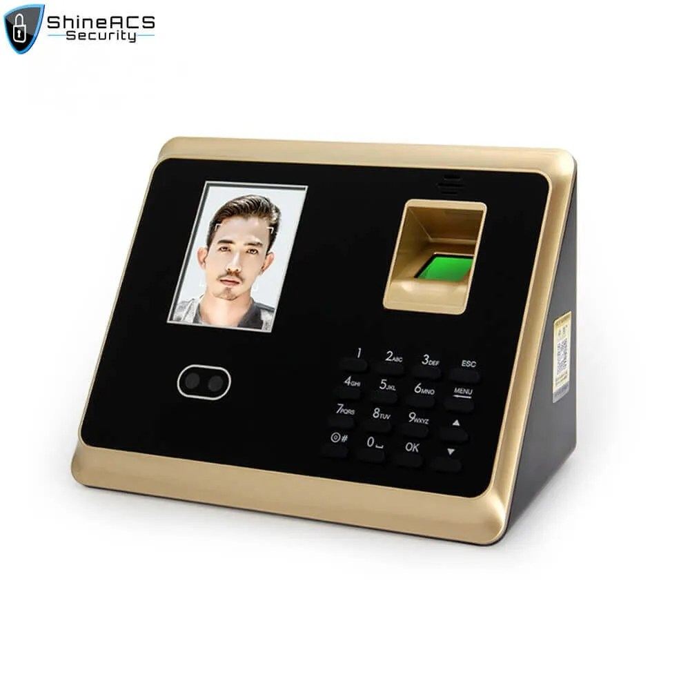 Face and fingerprint time attendance device ST F007 1 - ShineACS Access Control Products