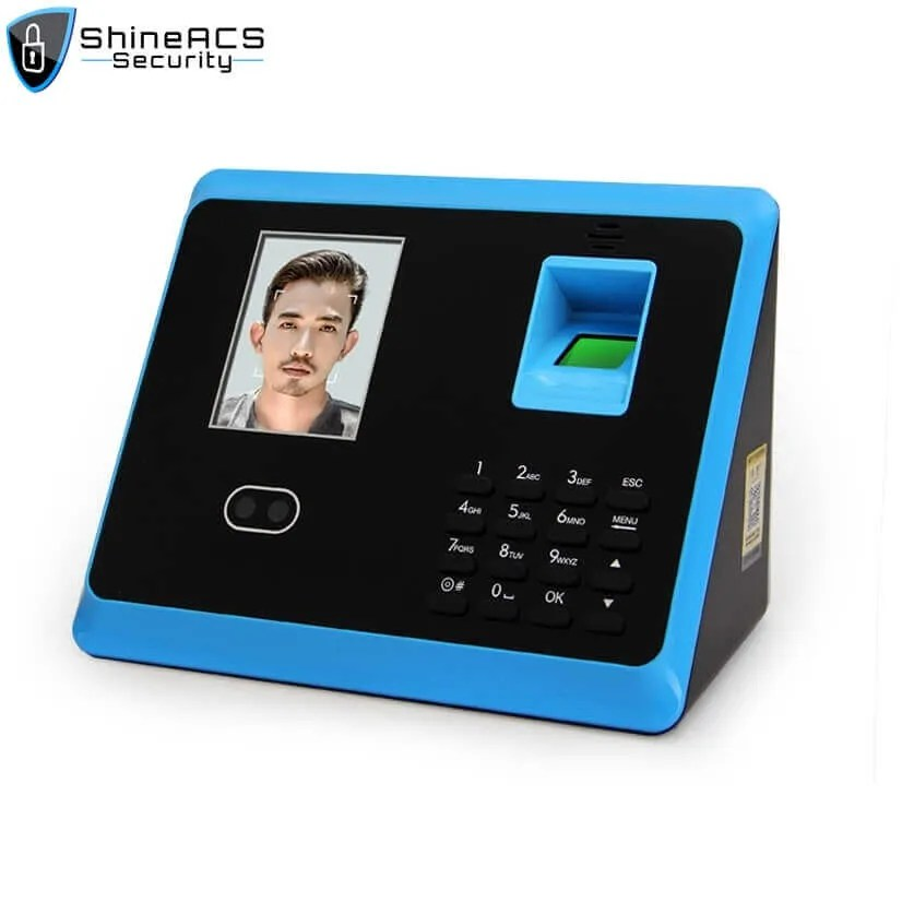 FaceFingerprint time attendance device ST F005 5 - ShineACS Access Control Products