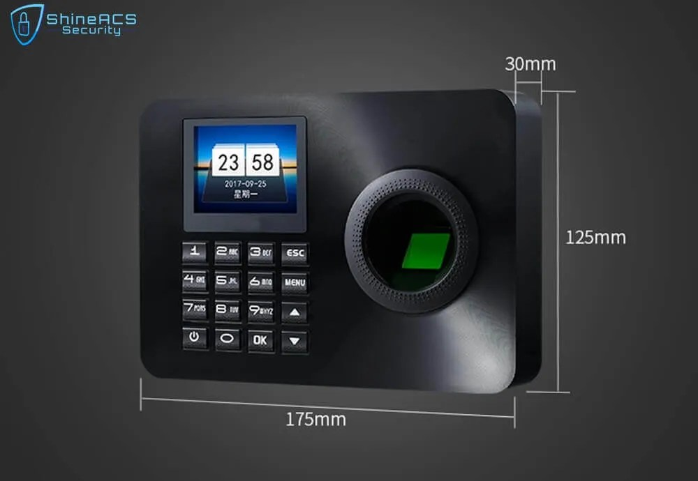 Fingerprint Time Attendance ST F001 Size - Fingerprint Time Attendance Terminal ST-F001(4G Optional)