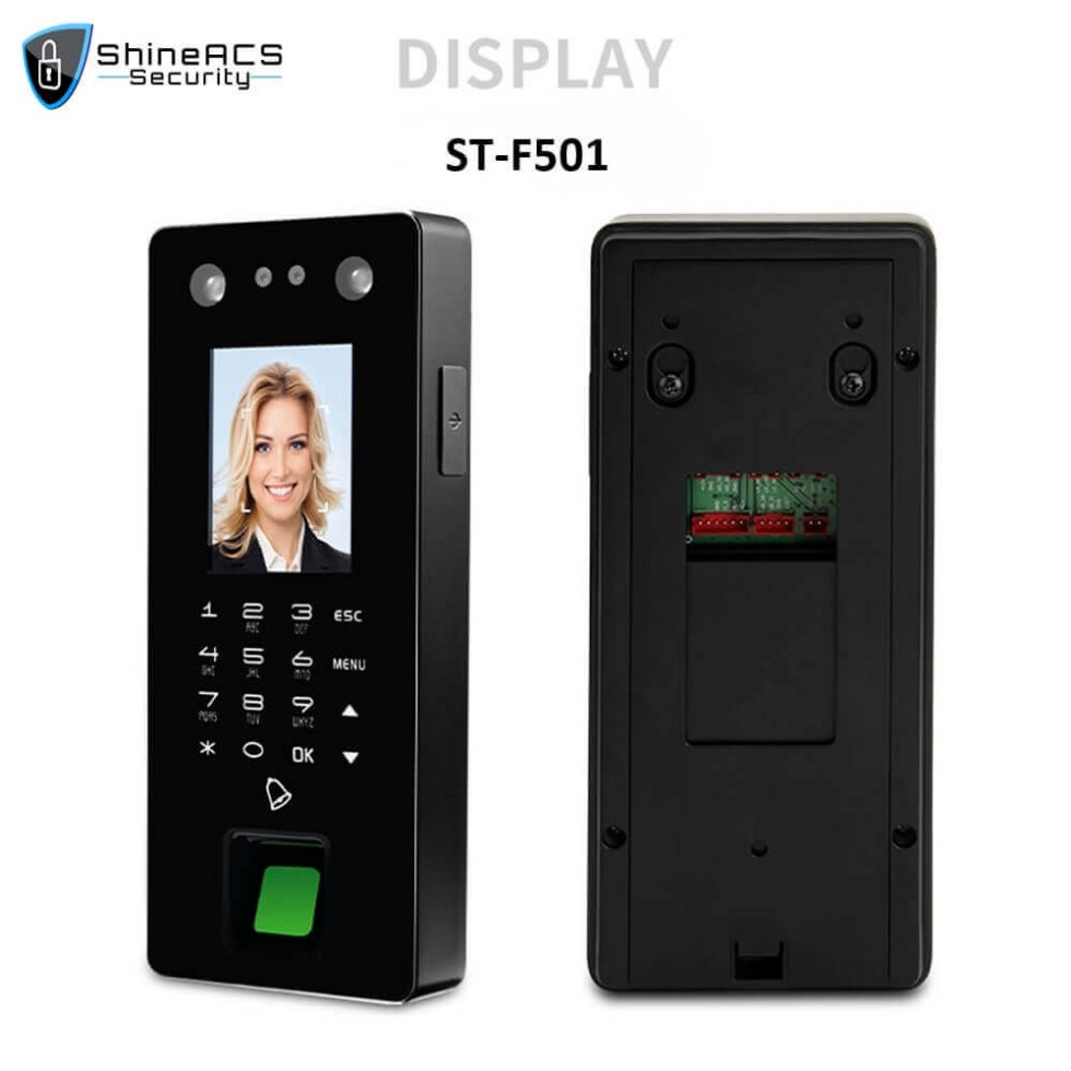 Time Attendance device ST F501 DISPLAY 980x980 - Face and Fingerprint Time Attendance Standalone Terminal ST-F501
