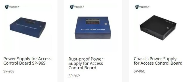 ShineACS access control power supply - Door access control system configuration Guide