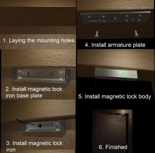 Ahşap kapı montaj şeması - Geçiş kontrol sistemi tasarımı ve montajında kapılar için maglock kurulumu