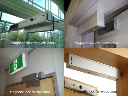 magnetic lock for different doors - Maglock installation for gates in access control system design and installation