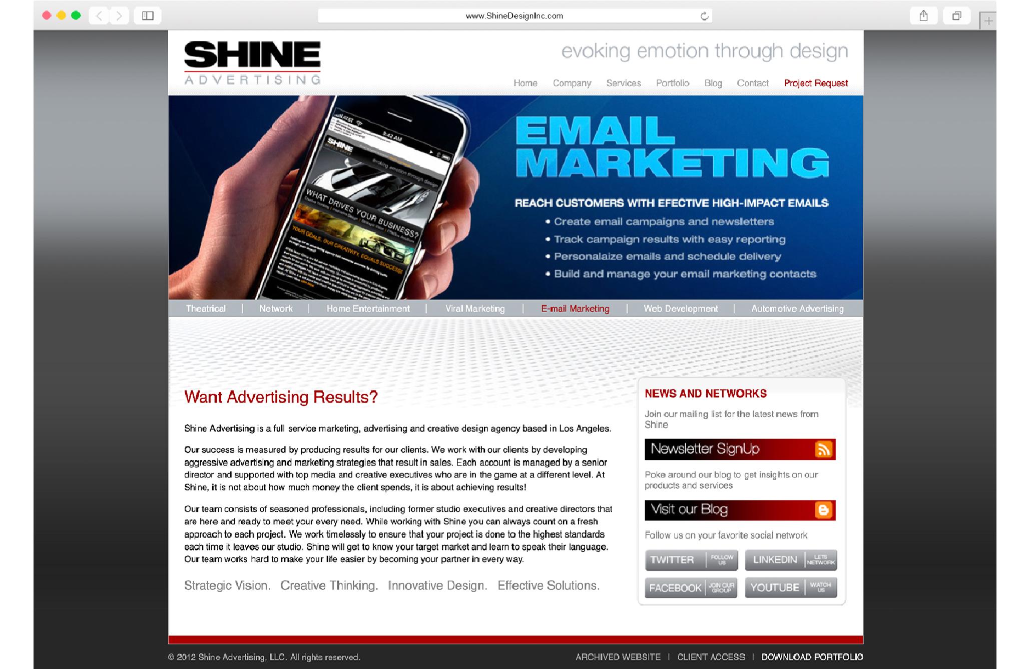 Shine Design Inc Archived Website 2