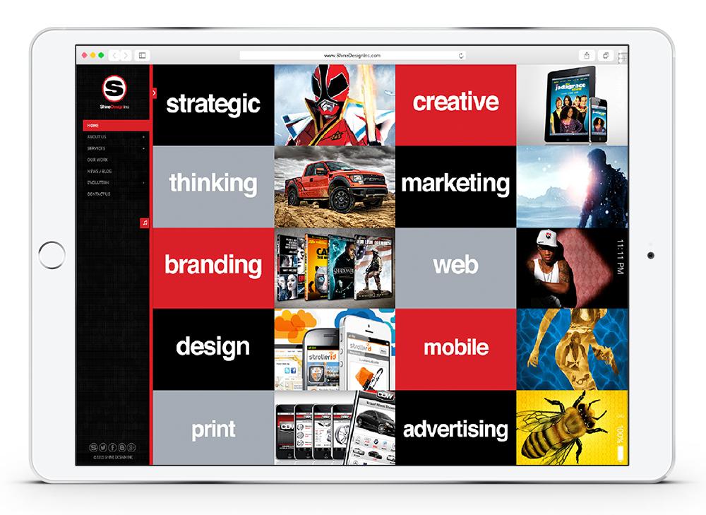 Shine Design Services Web Design and Development