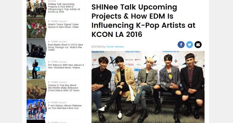 [Interview] Billboard – KCON LA 2016