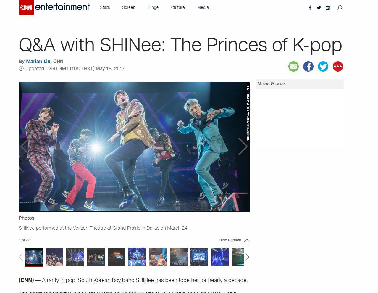 [Interview] CNN – SHINee World V in USA