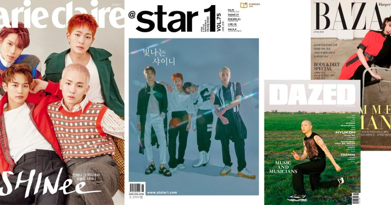 SHINee: June Magazines 2018