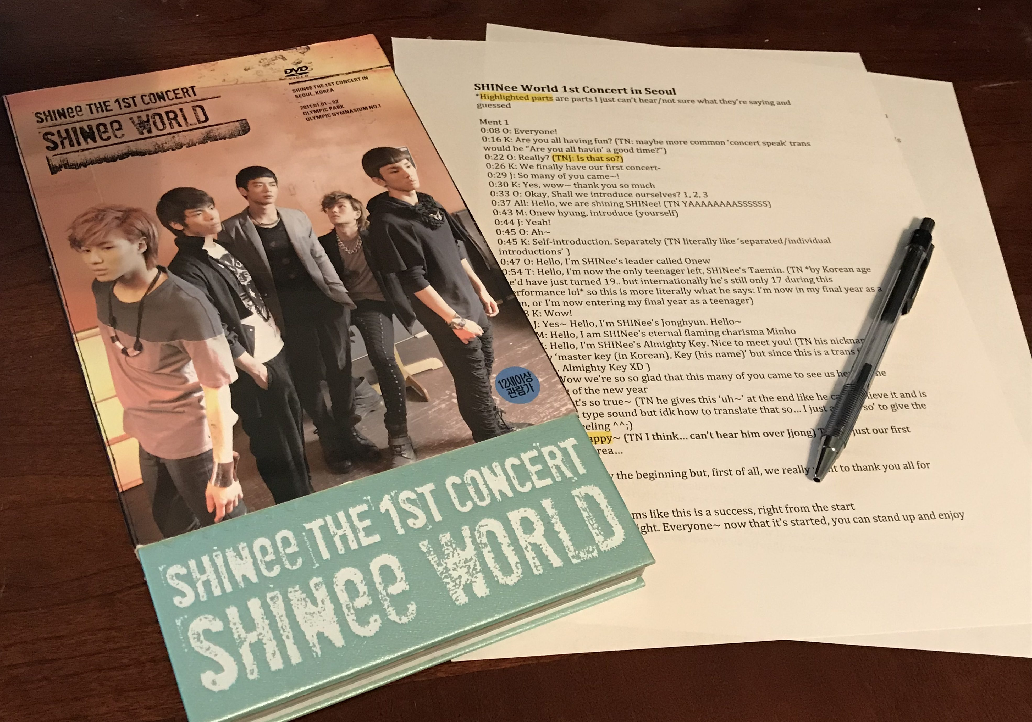 SHINee World 1st Concert in Seoul [Eng Trans]