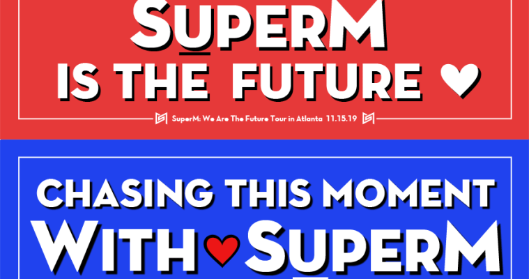 "SuperM ""We Are The Future"" Tour Banners: Atlanta & NYC"