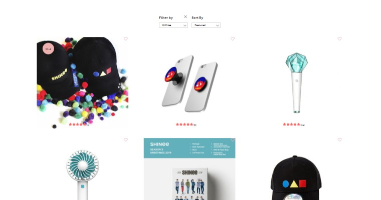 SM Global Shop Now Sells Official SHINee Merch in USA