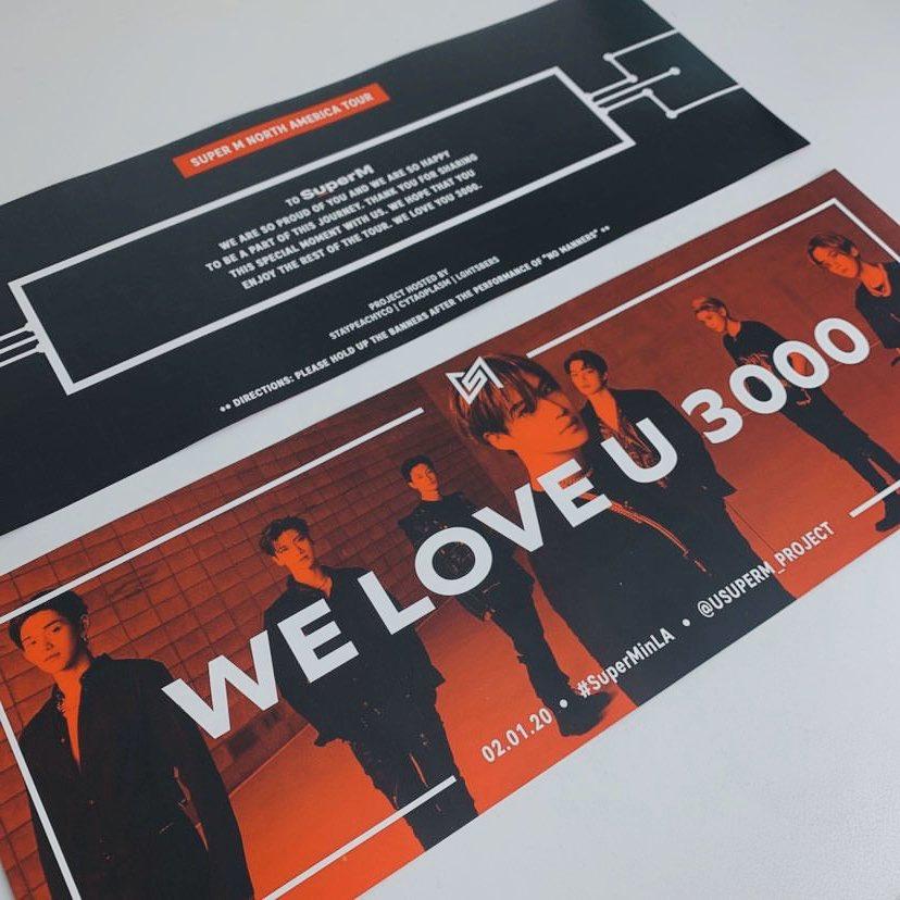 "SuperM ""WE ARE THE FUTURE"" Tour Banner Project: LA"