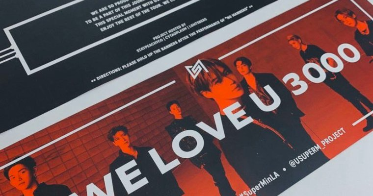"SuperM ""WE ARE THE FUTURE"" Tour Banner Project: LA"