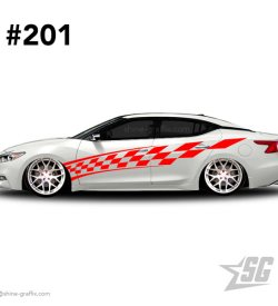 car graphic 201 decals stripe graphics racing flag