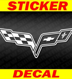 Corvette C6 Logo Decal