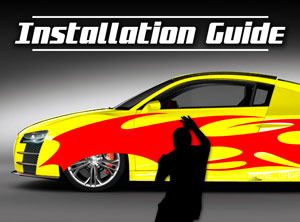 Car graphics installation guide