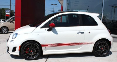 Fiat abarth rocker panel stripe graphic
