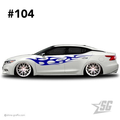 car graphic 104 decals stripe graphics lowered flames