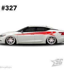 car graphic 327 decals stripe graphics tuner