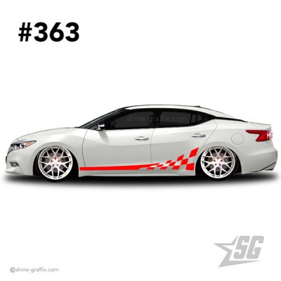 car graphic 363 decals stripe graphics flag side