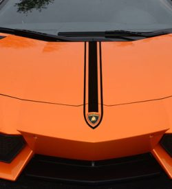 Lamborghini aventador hood stripe 2