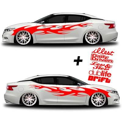 car vinyl graphics 002 red