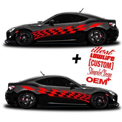 car vinyl graphics 201 red