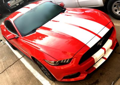 Mustang GT Racing Stripes front side