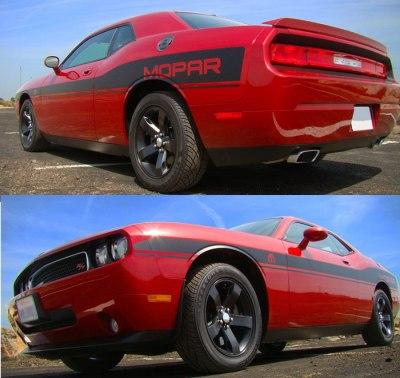 Dodge Challenger Mid Body Wide Mopar Replica Side Stripes graphics #405