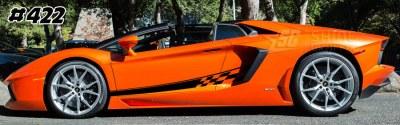 Lamborghini aventador side graphics 422 LP 700, 720, 750, Coupe, Roadster, SV