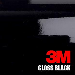Gloss black car wrap 3m 1080 series vinyl