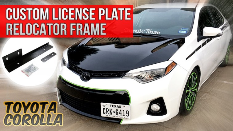 How to install custom license plate relocation frame