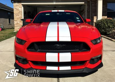 red mustang shelby racing stripes 2 colors