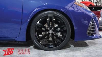 2017 corolla SE XSE wheel decals 17 wheels blue