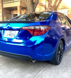 corolla-blue-chrome-wrap-film