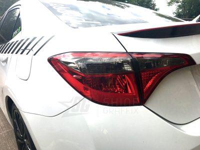 light black tint taillight overlay