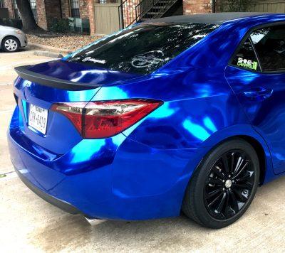 Toyota Corolla taillight precut tint smoked side