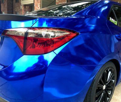 Toyota Corolla taillight precut tint smoked side closeup
