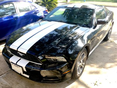 Mustang 8in wide racing stripes side