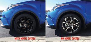 2018 Toyota C-HR wheel decals kit front
