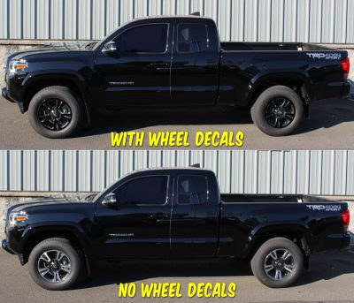 2018 Toyota Tacoma TRD sport wheel decals SIDE 2017