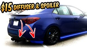 $15 Rear Bumper spoiler & Diffuser 2017 Corolla. cheap body kit challenge