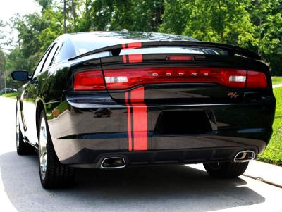 """universal rally stripe 6"""" wide charger rear"""