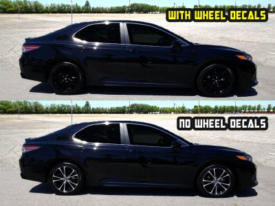 2019 camry SE wheels decals black